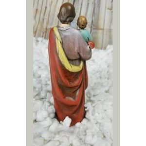 unbranded Accents - Resin Saint St Joseph W/ Jesus Christ Child